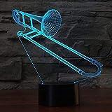 Nachtlicht Posaune Led 3D Licht Usb Musikinstrument 3D Nachtlicht