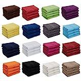 AR Line 4er Pack zum Sparpreis, Frottier Handtuch-Serie - in 7 Größen und 16 Farben 100% Baumwolle 500 g/m², 4er Pack Handtücher (50x100 cm) in Royal