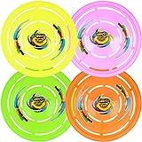 com-four® 4X Frisbee für Kinder und Erwachsene - Frisbeescheibe zum Spielen - Wurfscheibe auch...