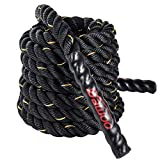 Dawoo Schlachtseil Sporttraining Kampf Seil, körperliche Fitness trainingsseil (38mm * 9 m/ 12 mt/...