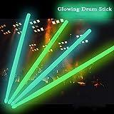 ZHXY Drumsticks Leuchtend LED leuchten trommelstock Geeignet Für Jazz-Drums Und Bühnen Drumsticks...