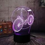 Neuheit Led 3D Rgb Nachtlicht Fahrrad Fahrrad Multicolor 7 Farbwechsel Tischlampe Usb Für Kind...