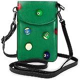 Inner-shop Kleine Billardkugeln der Smartphone BagWomen auf grüner...