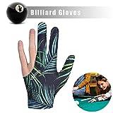MHOYI Billardhandschuhe Snookerhandschuhe Linkshänder, 3-Finger-Billardpool Snooker Queuehandschuhe...