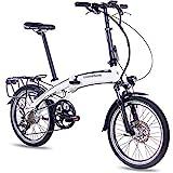 CHRISSON 20 Zoll E-Bike Klapprad EF2 Weiss matt - E-Faltrad mit Bafang Nabenmotor 250W, 36V, 30 Nm,...