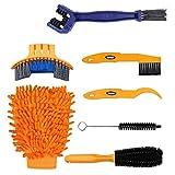 Bike Cleaning Tool Set 7 Stück Fahrrad Clean Brush Kit für Fahrradkette / Reifen / Sprocket...