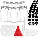 Gewürzgläser Set mit 14 Gläsern und 21 Ausgießern – Glasbehälter mit einer Füllmenge von...