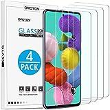 OMOTON [4 Stück] Samsung Galaxy A51 Panzerglas mit Schablone-Installationshilfe, [Anti- Kratzer], [Bläschenfrei], [9H Härte], [HD-Klar]