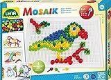 Lena 35614 Mosaik, Steckmosaik mit 400 Steckern, Mosaiksteine mit Ø von 5 mm, 10 mm und 15 mm,...