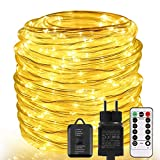 Lichterschlauch aussen ECOWHO 20M 336 LED Lichterkette außen mit Fernbedienung & Timer, 8 Modi IP65...