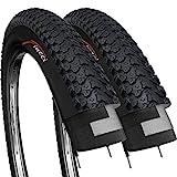 Fincci Paar 26 x 2,125 Zoll 57-559 Faltbar Reifen für MTB Mountain Hybrid Fahrrad (2er Pack)