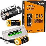 2 wiederaufladbare Batterien: Fenix E16 700 Lumen CREE LED EDC/Schlüsselanhänger, 2 x Fenix...