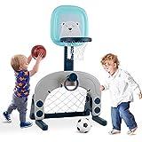 Birtech Basketballkorb Set 3-in 1-Kinder-Basketballständer Sportaktivitätscenter Einstellbar...