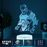 3D LED Lampe mit Motiven aus festungslampe, 3d illusion lampe Stimmungslampe, Battle Royale, mit 7...