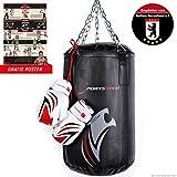 Sportstech Premium Kampfsport Kinder Boxsack-Set mit Innovative Fünfpunkte-Stahlkette & inkl....