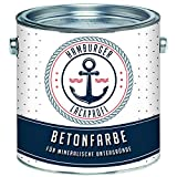 Betonfarbe SEIDENMATT Silbergrau RAL 7001 Grau Bodenfarbe Bodenbeschichtung Betonbeschichtung Fassadenfarbe // Hamburger Lack-Profi (2,5 L)
