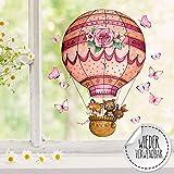 ilka parey wandtattoo-welt Fensterbild Heißluftballon Fuchs Hase Bär Schmetterlinge...