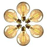 Edison Vintage Glühbirne, massway Dimmbar Filament Lampe E27 G80 40W Warmweiß Antike Dekorative...