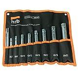 HRB Rohrsteckschlüsselsatz 9-tlg. Größen 6-22 mm, Schraubenschlüssel Satz in bequemer Tetron...