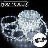 10m LED Lichtschlauch, 100 LEDs Lichterschlauch Verlängerungs Lichtschläuche IP65 Wasserfest...