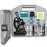 Amscope Kinder Mikroskop Experimentierset, 6-fache Vergrößerung 20X-1200X, beinhaltet 52-teiliges...