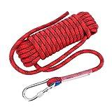 12mm Kletterseil mit Karabiner Sicherheitsseil Dauerhaft Survival Seil für Outdoor Aktivitäten...