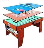 YUHT Spieltisch,Multi-Funktions-Spieltisch 54 Combo Tabelle 5 in 1 Unterhaltung Tisch Billardtisch,...