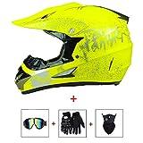 AMLY Motocross Vollhelm Motorradhelm Cross Helme Schutzhelm Motocross Helm für Motorrad Crossbike...