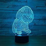 giyiohok 3D Lampe USB Power 7 Farben Amazing Optical Illusion 3D LED Lampe Formen Kinder...