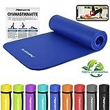 MSPORTS Gymnastikmatte Studio 183 x 61 x 1,0 oder 1,5 cm | inkl. Übungsposter und Tragegurte |...