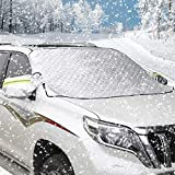 AUTSCA Scheibe Abdeckung Frontscheibe Abdeckung Auto Windschutzscheibe Schneeabdeckung, Frostabdeckung,Scheibenabdeckung Anti Frost,EIS Staub Sonnenstrahl, Wasserdicht (192 * 123cm) geeignet für SUV
