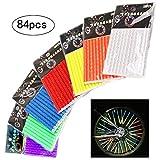 inherited 84 Stück (7 Farben) Reflektierende Speichensticks, Speichensticks Speichenreflektoren...