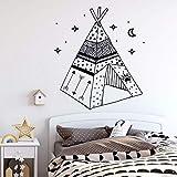 Glaswandsticker Kinderzimmerdekoration Rustikale Wohndekoration Zelt und Stern Wandkunst...