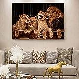 Leinwandbilder an der Wand Poster und Drucke Löwe Wandkunst Tiere Leinwandbilder für...