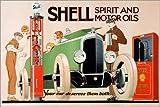 Posterlounge Leinwandbild 30 x 20 cm: Shell, Spiritus- und Motoröle von Rene Vincent - fertiges...