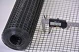 Volierendraht Maschendraht Hasendraht Drahtgitter Gitterzaun punkt-geschweißt grau anthrazit Maschenweite, Länge und Höhe wählbar DD (12,7x12,7 x 1000 mm Länge 20 m)