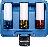 BGS 7200 | Kraft-Schoneinsatz-Satz | 3-tlg | 12,5 mm (1/2') | SW 17 / 19 / 21 mm | mit Kunststoffhülse | farblich codiert