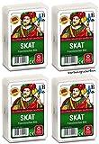 ASS Altenburger 22570001 Skat französisches Bild Spielekarten, Bunt, 59 x 91 mm, 4er Pack