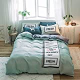 yaonuli Bed Sheet Bed Quilt Cover Four Sets of Cotton Twill Printed Cotton Four-Piece Set Turing Quilt Cover: 200 * 230 Bed : 150 * 200 Four-Piece Set