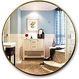 Cylficl Mirrors Moderner Wandspiegel, Titan, Gold, rund, eloxierter Rahmen aus Aluminiumlegierung...