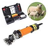 CGOLDENWALL 690W Elektrische Schafschermaschine 2400 U/min Ziegenschneider Tierschermaschine zum Scheren von Pferd Rinder Schaf Ziegen-Alpaka-Kamel mit 6 Geschwindigkeiten