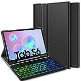 ELTD Tastatur Hülle für Samsung Galaxy Tab S6 (Deutsches QWERTZ), Hülle mit 7 Farben...