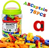 Meihuigo Magnetische Buchstaben und Zahlen, [superstark magnetisch] [78 Stück] [Mehrfarbig] Klassenzimmer magnetische Alphabet-Buchstaben und Zahlen für Kinder, geeignet für Kinder und Babys