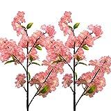 Aisamco 4 Stück Künstliche Kirschblüten Blume Sakura Blumen Dekorative Kunst Blume Plastikblumen...