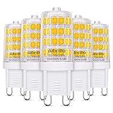 Albrillo 5er Pack 3.5W G9 LED Lampe 400 Lumen, Kein Flackern und 3000k warmweiß G9 LED Leuchtmittel...