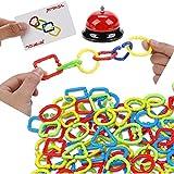 Pokerty Bunte Ringe Spiel Spielzeug, Ring brettspiel Familie Desktop Spiele Kinder lernspielzeug...