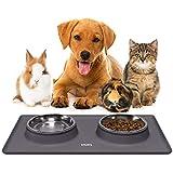 Katzenfutter Unterlage aus Silikon Katzennapf Hundenapf Set für Kleine Hunde und Katzen |...