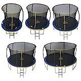 Zero Gravity Garten-Trampolin Ultima 4 für Kinder, mit Sicherheitsnetz und Leiter, blau/gelb, 244...