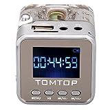 Andoer Digitales tragbares Mini-Musikabspielgerät, MP3/4-Player, MicroSD/TF, USB, UKW-Radio,...
