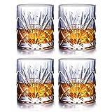 JASVIC Whisky Gläser 4er Set, 300ml Gläsersets Kristall Whisky Glas Becher, 100% bleifreies Scotch...